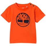 Timberland Kids Orange Tree Logo Tee