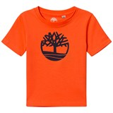 Timberland Kids Orange Classic Tree Logo Tee