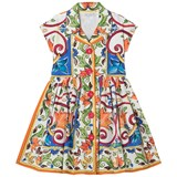 Dolce & Gabbana Majolica Print Cotton Shirt Dress