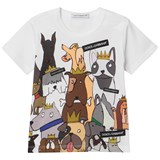 Dolce & Gabbana White D&G Dogs Branded T-Shirt (Chinese New Year)