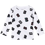 The BRAND White B-Mojis Motif Long Sleeve T-Shirt