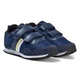 BOSS Navy Velcro Canvas Branded Trainers