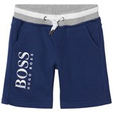 BOSS Navy Branded Sweat Shorts