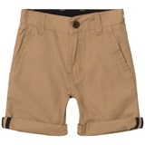BOSS Tan Chino Shorts with Belt