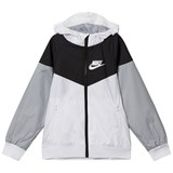 Nike White Grey and Black NSW Jacket