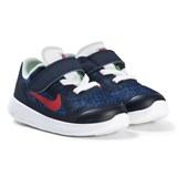 Nike Navy Red and White Nike Free Toddler Shoes