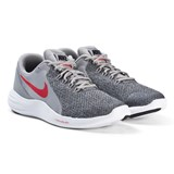 Nike Grey and White Red Nike Lunar Apparent Running Shoes