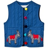 Stella McCartney Kids Blue Donkey Embroidered Gilet
