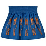 Stella McCartney Kids Blue Nat Donkey Embroidered Skirt