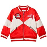 Stella McCartney Kids Red Wishing You Were Here Willow Bomber