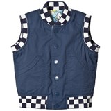 Stella McCartney Kids Navy Comic Print Rhubarb Reversible Gilet