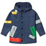 Stella McCartney Kids Navy Liam Color Box Water Repellent Parka
