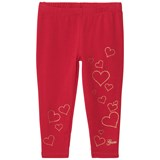 Guess Red Glitter Heart and Embroidered Leggings