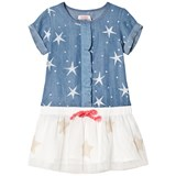 Billieblush Blue Star Print and Tulle Skirt Dress