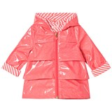 Billieblush Fuchsia Glitter Branded Raincoat