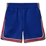 Gucci Royal Blue Tech Jersey Shorts with Multi Web Detail