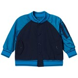 Little Marc Jacobs Navy and Blue Retro Logo Varsity Jacket