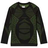 Spyder Black and Green Boys Racer L/S Top