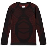 Spyder Black Colour Block Boys Racer L/S Top