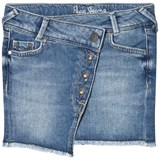Pepe Jeans Blue Alica Raw Hem Denim Skirt