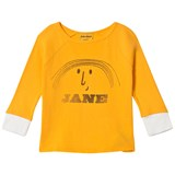 Bobo Choses Banana Yellow Little Jane Three Quarter Sleeve T-Shirt