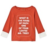 Bobo Choses Spice Route Red Tree Slogan Three Quarter Sleeve T-Shirt