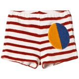Bobo Choses Buttercream Striped Terry Shorts
