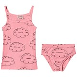 Bobo Choses Strawberry Ice Clouds T-Shirt And Brief Set