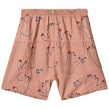 Bobo Choses Muted Clay Footprint Explorer Bermuda Shorts