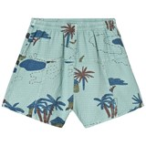 Bobo Choses Beryl Green Gombe Explorer Bermuda Shorts