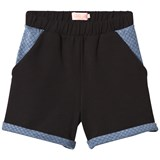 Bang Bang Copenhagen Black and Blue Quilted Shorts