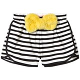 Bang Bang Copenhagen Black and White Stripe Sonja Fluffy Bow Shorts