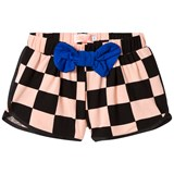 Bang Bang Copenhagen Pink and Black Bow Check Sonja Shorts