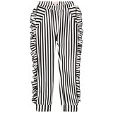 Bang Bang Copenhagen Black and White Frill Detail Aya Trousers