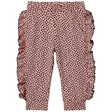 Bang Bang Copenhagen Pink and Black Spot Frill Detail Aya Leggings