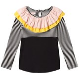 Bang Bang Copenhagen Black and White Stripe Frill Alma Top
