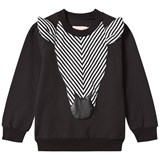 Bang Bang Copenhagen Black Zebra Applique Sweatshirt