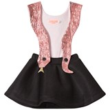 Bang Bang Copenhagen Pink and Black Snake Girl Dress