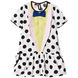 Bang Bang Copenhagen White and Black Spot Bow Detail Dress