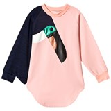 Bang Bang Copenhagen Pink Toucan Applique Love Bird Dress