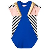 Bang Bang Copenhagen Blue and Stripe Panelled Elvira Cool Dress