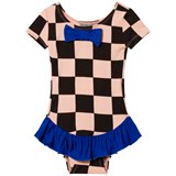 Bang Bang Copenhagen Pink and Black Check Frill Dancing Dora Leotard