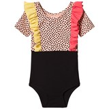 Bang Bang Copenhagen Pink and Black Spot Frill Mila Leotard