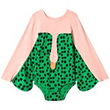 Bang Bang Copenhagen Pink and Green Spot Swan Electra Leotard