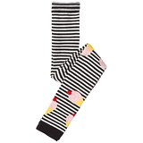 Bang Bang Copenhagen Black and White Stripe Ice Cream Creamy Footless Tights