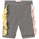 Bang Bang Copenhagen Black Stripe Pop Shorts with Frill Detail