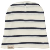 MarMar Copenhagen White and Blue Stripe Beanie Hat