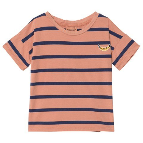 Bobo Choses Coral Breton Stripes Short Sleeve T-Shirt