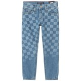 Tommy Hilfiger Blue Indigo Steve Slim Fit Checker Board Jeans