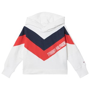 Tommy Hilfiger White Alert Colourblock Branded Hoodie 5 years